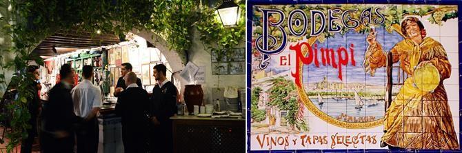 Bodega-Bar El Pimpi, Malaga. Eine Institution in der andalusischen Hafenstadt.