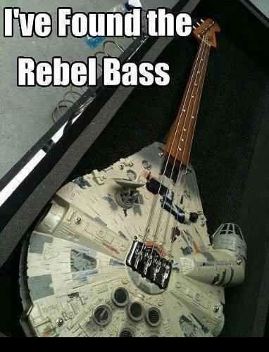 Millenium Falcon 'Rebel Base' Bass Guitar - Star Wars MemesStar Wars Memes
