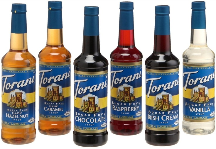 Torani Sugar Free Syrups. YUM!  You have GOT to try the Salted Caramel, Gingerbread and Brown Sugar Cinnamon.  Heaven in a Coffee Cup!
