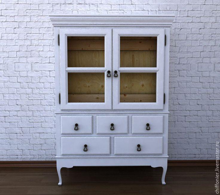 Купить Шкаф для мелочей - белый, сервант, комод, Шкафчик, на заказ, из массива, шкаф из дерева, прованс
