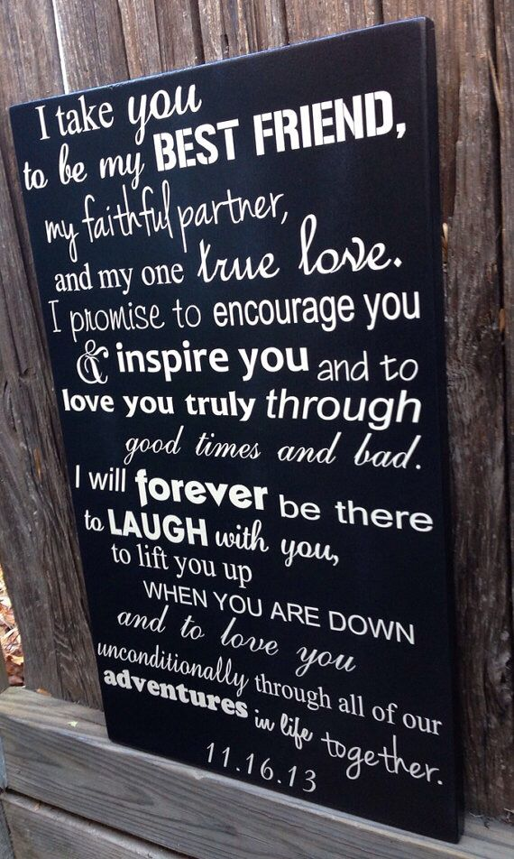 Wedding vows Anniversary gifts for husband, 4th