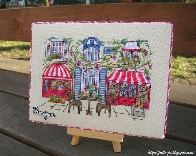схема вышивки картины парижское кафе