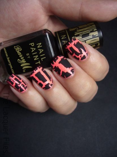 Black Nail Varnish | Crackle nail polish - How does it work? Tips on how to apply | Nail ...