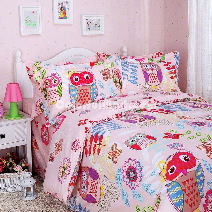 Owl Kids Bedding Sets For Girls