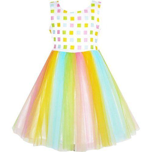 Jastore ® Mädchen Layered Regenbogen-Ballettröckchen-Tanz-Rock- Ballettröckchen-Rock Clubwear (M für 2-5 Jahre)
