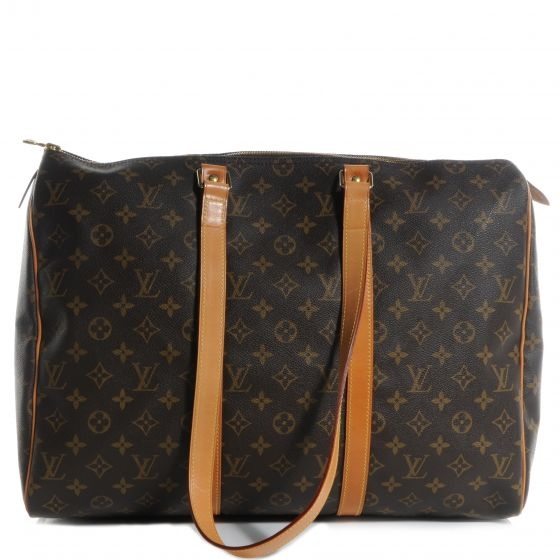 This is an authentic LOUIS VUITTON Monogram Sac Flanerie 45 Overnight Bag.   This stylish overnight bag from Louis Vuitton has the practicality of a Keepall and some very handy and convenient design features.