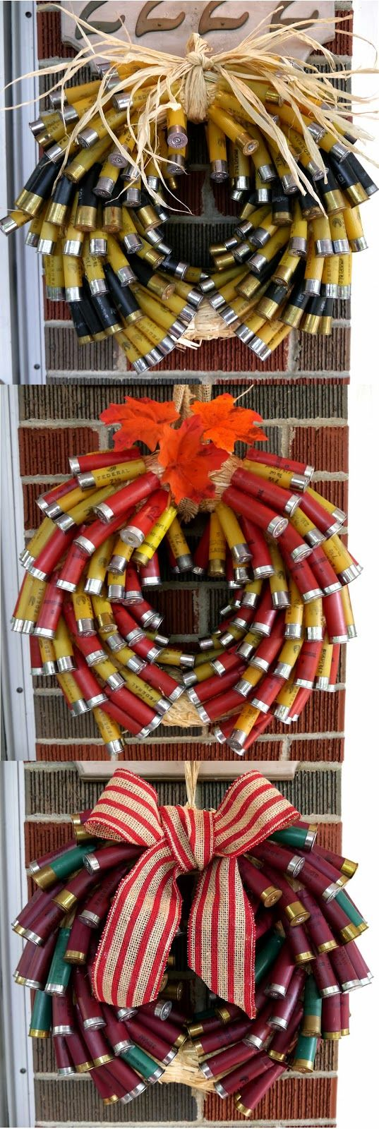 I Can Totally Do That... Instructions for Shot Gun Shell Wreaths.