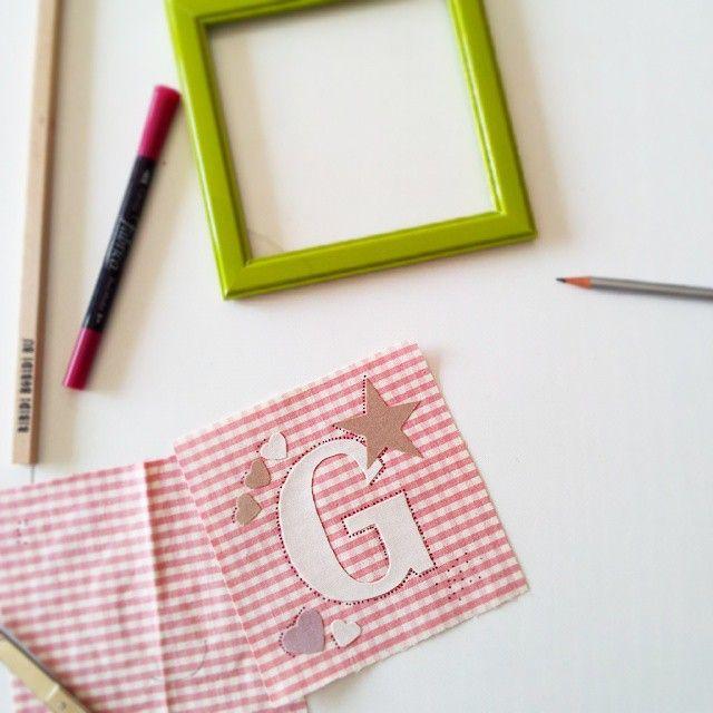 Work in progress... #gift #babygirls #friends #handmade #madebyme #letters #lettering #fabric #tessuto #homedecoration #decor #giulia #g #amoredizia #picoftheday #instadaily #instapicture #instamoment #igers #igersitalia