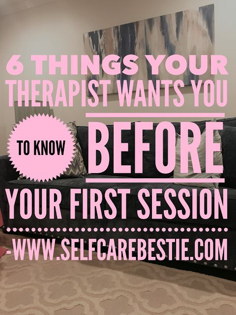 What to know before your first therapy session