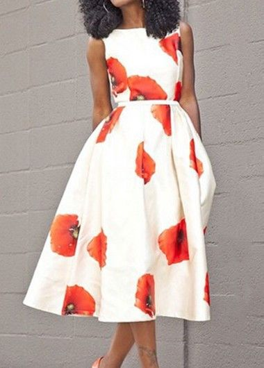 Love this dress, the vibrant print and that it has straps!