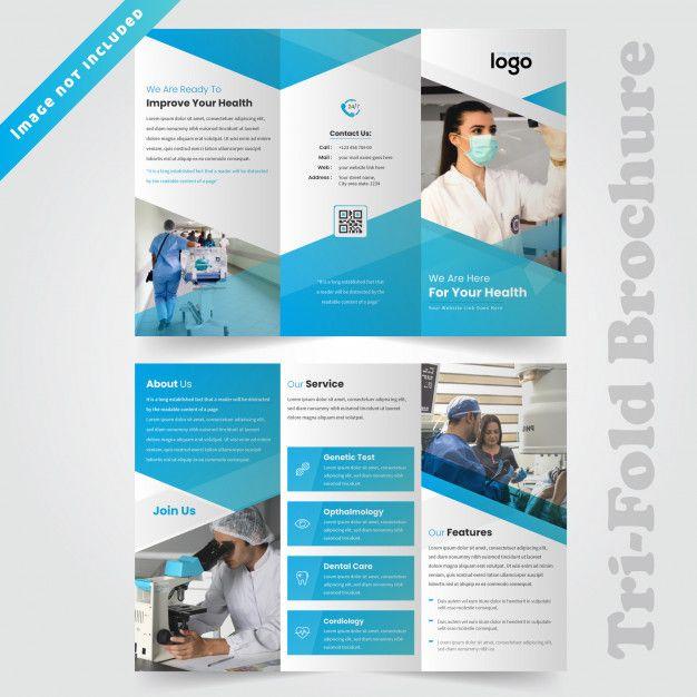Medical Trifold Brochure Design For Hospital Trifold Brochure Design Medical Brochure Brochure Design