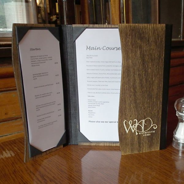 Wooden Menu Covers / Original wood menus from Menushop
