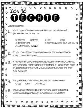 back to school parent technology survey technology back