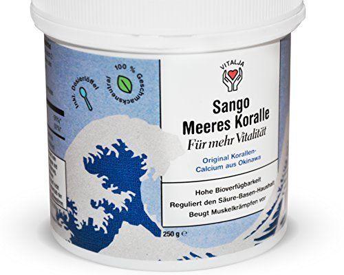 Original Sango Meereskoralle - 250g   Inkl. Messlöffel & Geschmacksneutral   80-Tage-Vorrat   Calcium & Magnesium im optimalen Verhältnis von 2:1: Amazon.de: Drogerie & Körperpflege