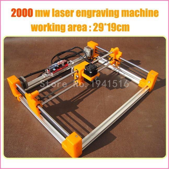 2015 New 2000mw Diy Laser Engraving Machine Laser Printer