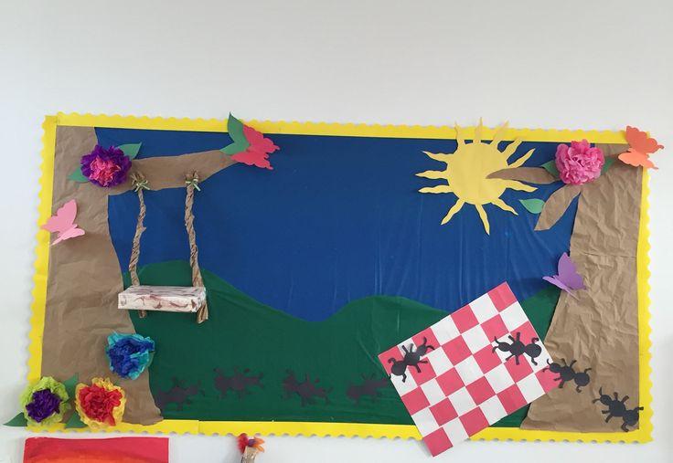 Spring picnic bulletin board