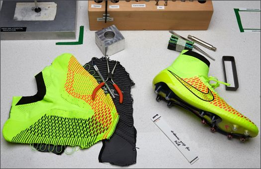 d feel in all conditions Nike conducted a Swamp-Walk test on the Magista, which consisted of drenching the boot and measuring water retentio...
