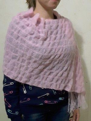 New-unique-wedding-Handmade-hand-knit-kid-mohair-sweater-shawl-wrap-scarf
