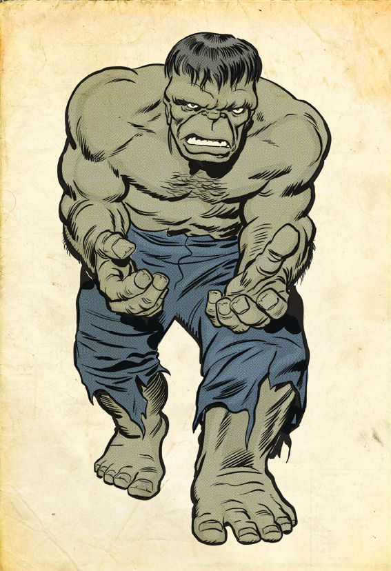 It's been awhile since I've done some drawing, so got inspired to practice my digital inking on a Jack Kirby Hulk image. While keeping true to the King of comics' original art, I have snuck one or ...
