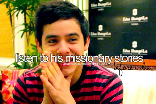 Listen to David Archuleta's missionary stories <3 #beforeidie
