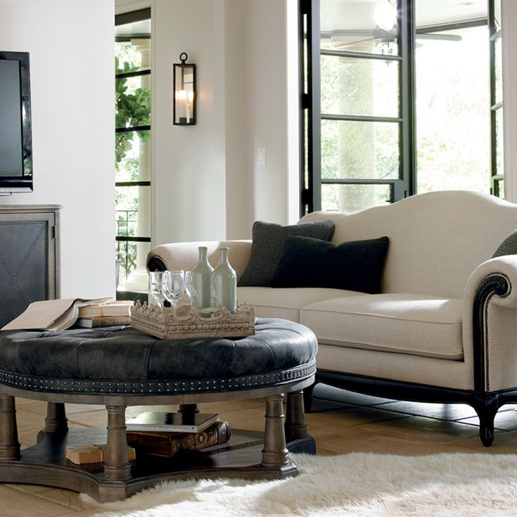 Shop For The Bernhardt Belgian Oak Cocktail Ottoman At Belfort Furniture    Your Washington DC, Northern Virginia, Maryland And Fairfax VA Furniture ...