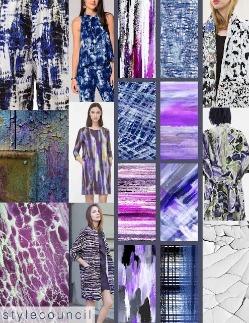 FALL trend: Textural Textiles - Our new dark blue and purple designs are also bursting with texture. Hatch work and color blending add a creative balance of pattern and vibrance. Pair our prints easily with any fall ensemble and don't forget to keep it bold and textural!