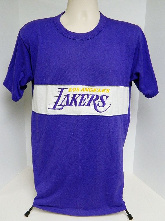 80s 90s Los Angeles Lakers T Shirt size XL by Nutmeg by BeyondLeaf @etsy @ebay #losangeles #lakers #LALakers #nba #etsy #basketball #hoops #court #bball