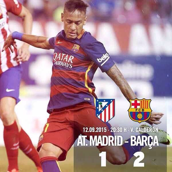 [END MATCH | FINAL] Atlético de Madrid vs FC Barcelona (1-2) 50' Fernando Torres / 54' Neymar 76' Messi --- All about the match at www.fcbarcelona.com Tot sobre el partit a www.fcbarcelona.cat Todo sobre el partido en www.fcbarcelona.es --- #AtletiFCB #FCBLive #LaLiga #ATMvsFCB Força Barça!