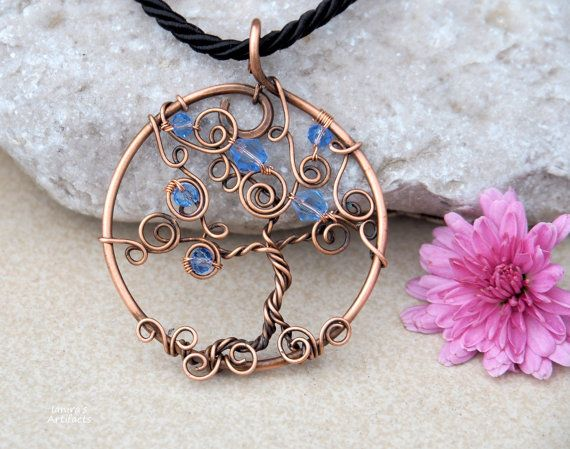 Tree necklace/Wire tree necklace/Tree pendant/Wire wrapped tree/Copper wire tree/Tree of life necklace/Yoga pendant/Gifts/Mother's Day gift