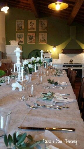 Country dinner at #torreacona #tuscany