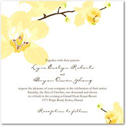 WeddingInvitationsJournal.com   Orchid Wedding Invitations Collection   http://www.weddinginvitationsjournal.com