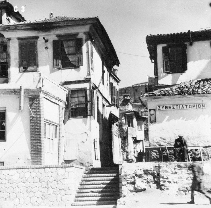 Lala Aufsberg, Θεσσαλονίκη, σε κάποιο σοκάκι, 1963