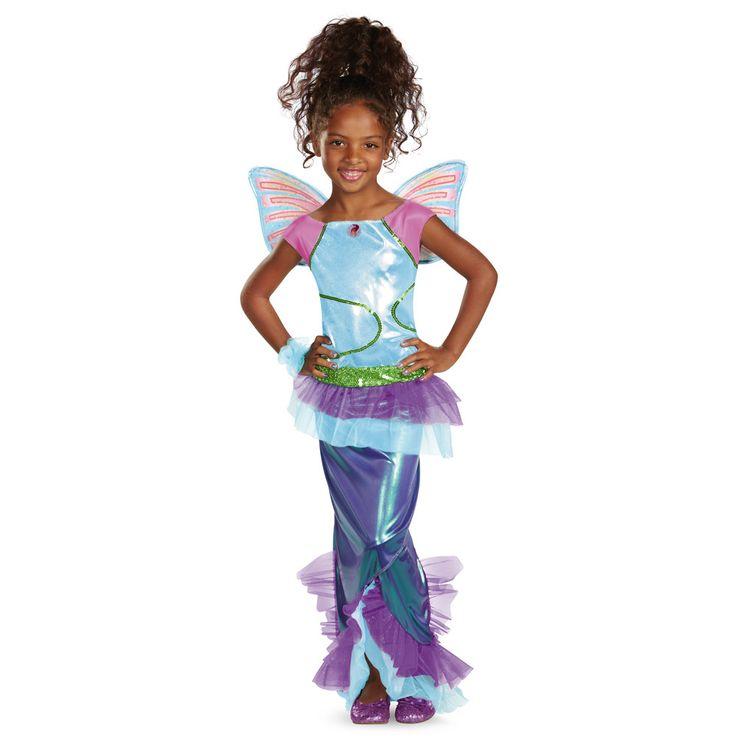 Winx Club Deluxe Aisha Mermaid Costume Child