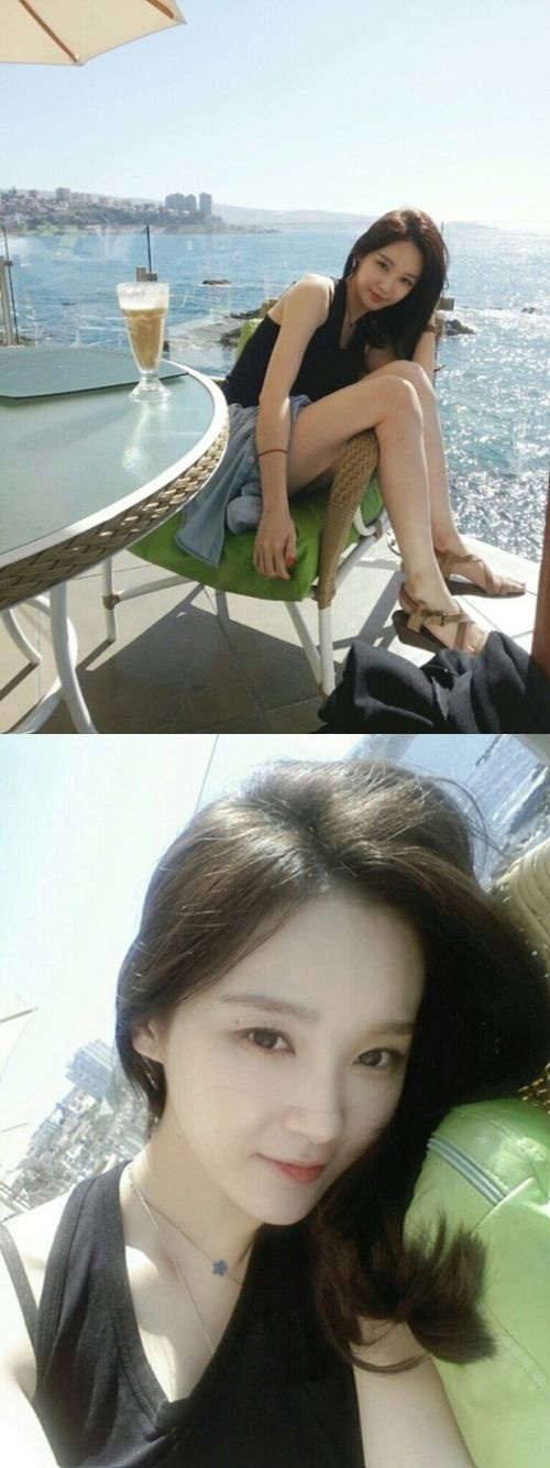 Davichi's Kang Min Kyung flaunts her slender legs in Chile ~ Daily K Pop News