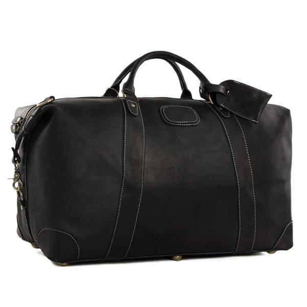 Vintage Leather Duffle Bag, Leather Travel Bag, Mens Weekend Bag