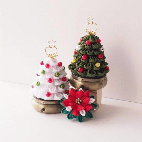 Little Green Fabric Christmas Tree storage box Christmas tree