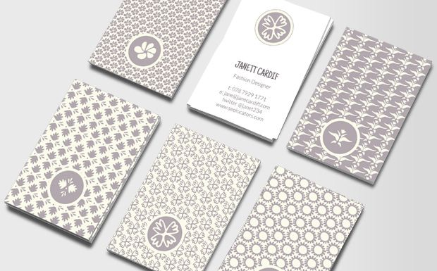 Katrin Wiehle designed this pretty, simple and elegant pattern and Monika did matching typography.