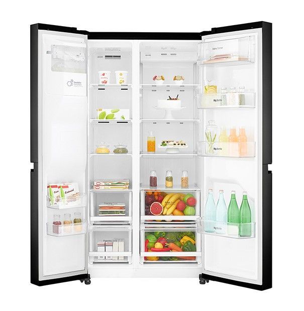 Réfrigérateur Américain LG GSL6611BK - Webdistrib.  601L, Compresseur linéaire, Total No Frost, Smart Diagnosis, Magic Crisper