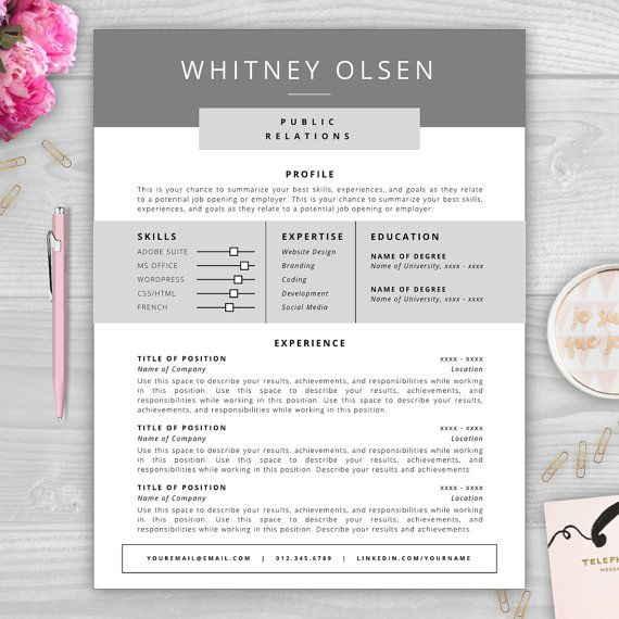 308 best Resumes Ideas \ Templates images on Pinterest Resume - microsoft office resume templates for mac