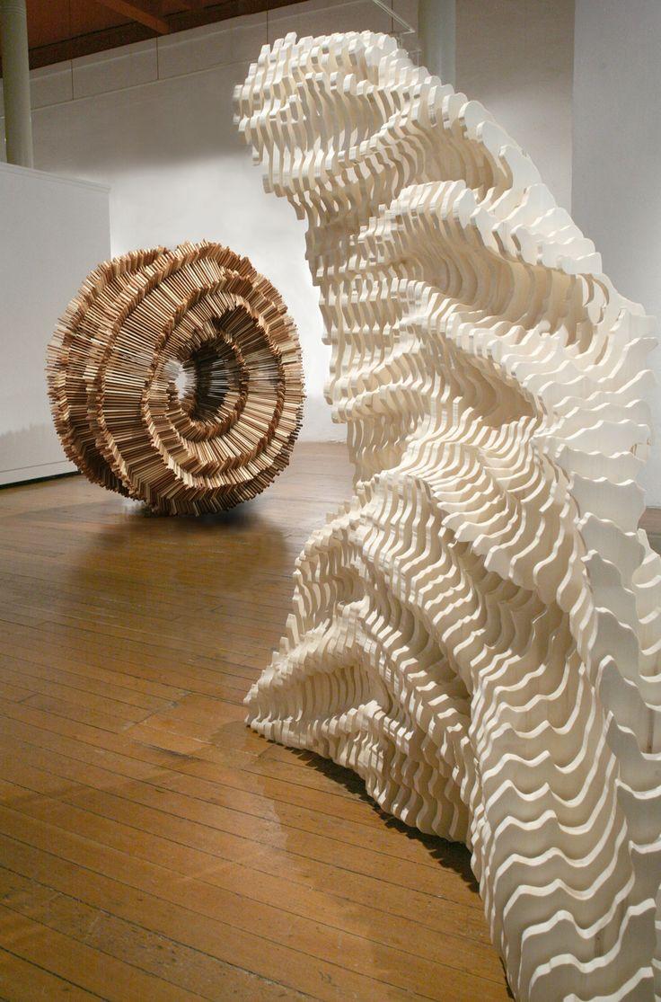 Installation of Scholars' Rock and Rounds; Artist Ben Butler