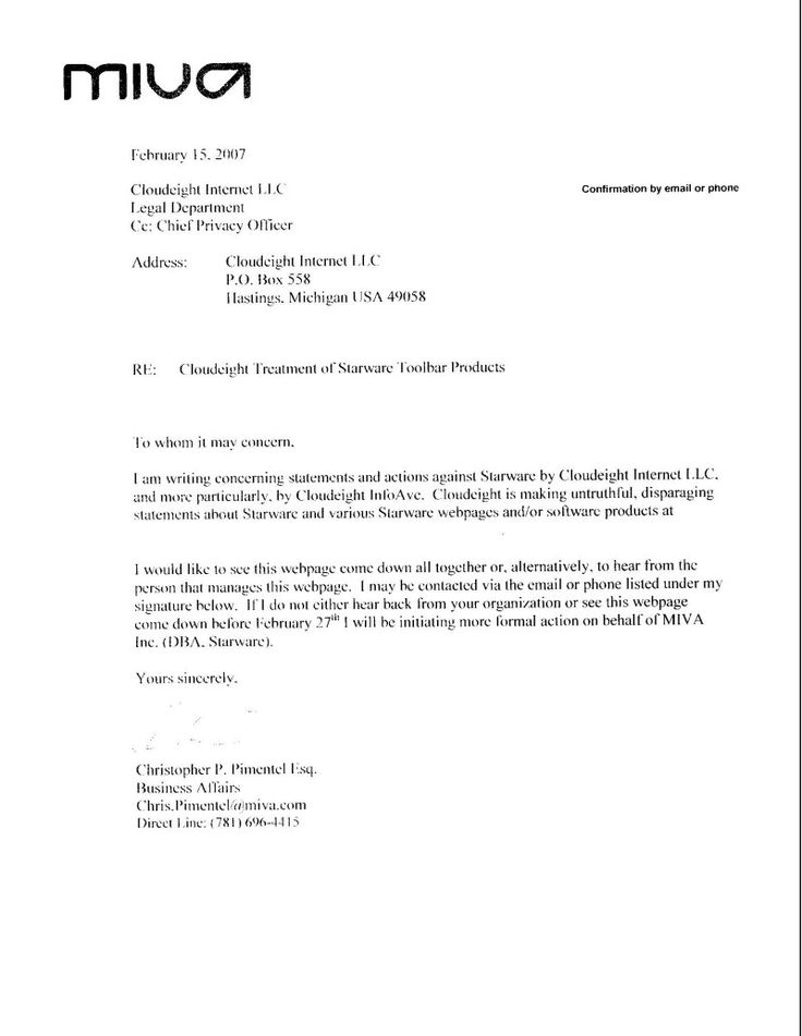 specifically targets symantec for cease and desist letter arising - cease and desist template