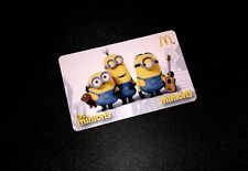 2015 MINIONS MCDONALDS GIFT CARD  ---  1PCS. -- FOR COLLECTIBLE --- NEW