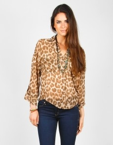 #LestersFallObsessions The Purrfect #Leopard Print Top by #FREEPEOPLE