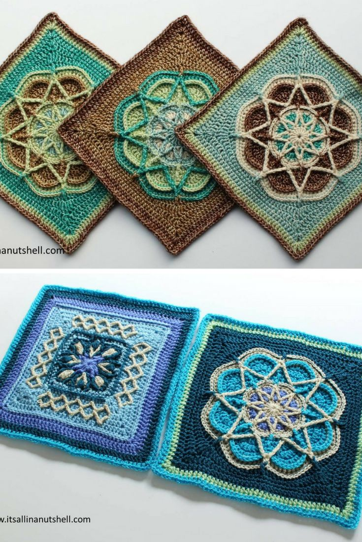 Free Crochet Pattern | 3 gorgeous square crochet patterns (Dutch and English)