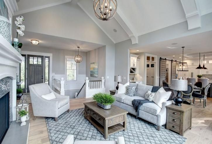 40+ Gorgeous Farmhouse Modern and Rustic Living Room Design and Decor Ideas