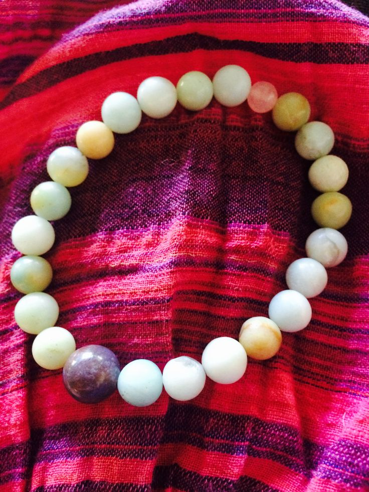 Amazonitt, Jasper og rosenkvarts Handmade meditation mala braclet Balancing the inner & and outer wold.
