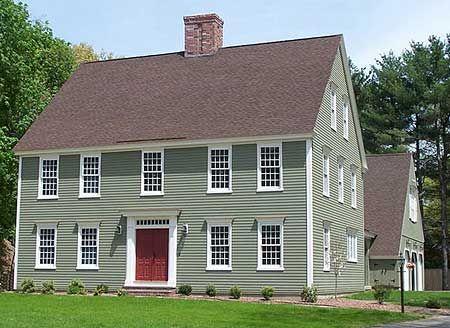 105 best salt box homes images on pinterest salt box for Colonial saltbox house plans