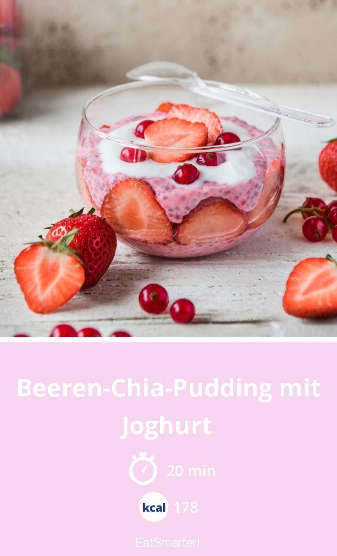 Beeren-Chia-Pudding mit Joghurt – schlauer – Kalorien: 178 kcal – Zeit: 20 min. | …   – Gesundes Frühstück