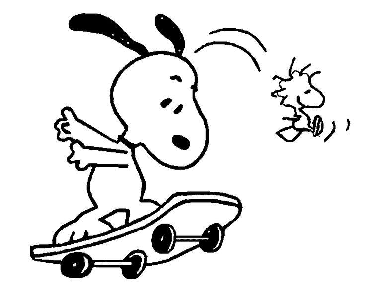 25+ bästa Snoopy coloring pages idéerna på Pinterest