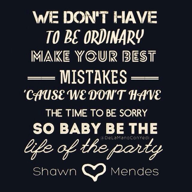Life of the party is like an awesome song. I listened to it and then I always used to listen to show you. It was a good combination